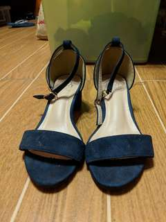Dark Blue Block Heels