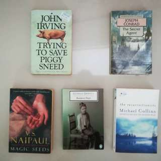 Set of 5 Books for Adults