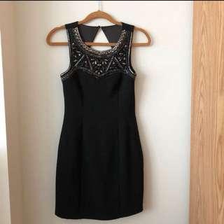 Forever New Black Sequin Dress 6