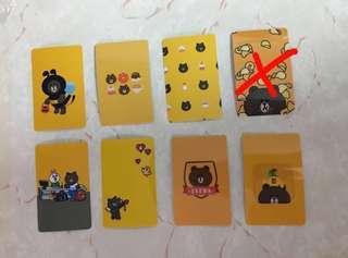 買二送一  line friends 八達通貼 証件貼 Octopus stickers 公交卡 貼紙