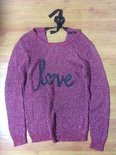 FOR ME 'love' knitted sweater