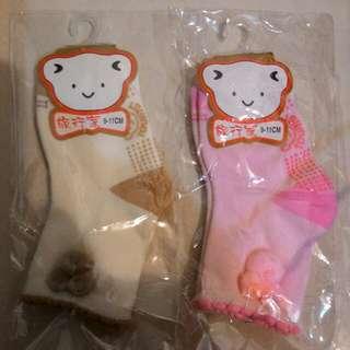 小熊止滑寶寶精梳棉襪