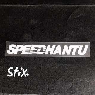 Speedhantu Vinyl Cut Sticker