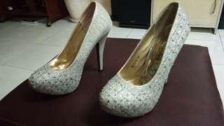 Elegant Silver High Heels