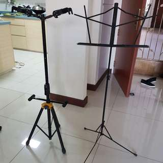 Guitar stand and Sheet score stand