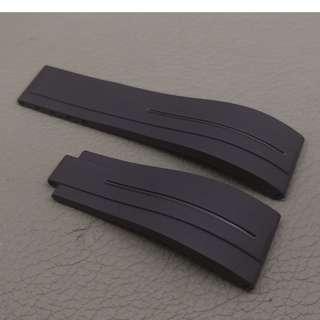 Rolex 專用 代用 RB 膠錶帶 20mm錶帶 Rolex (ref:21RO黑色摺扣)