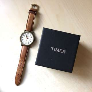 TIMEX ORG Classic Round CRM Dial leather strap