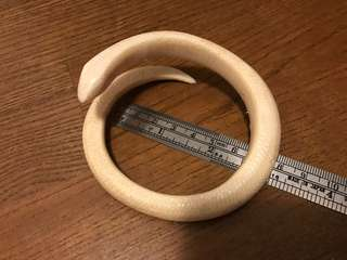 Old ivory snake design bangle