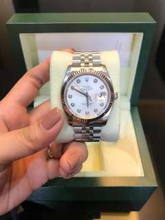 Rolex white gold datejust