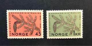 1962年 挪威 植物,#406-407_A100,2v全,u/m