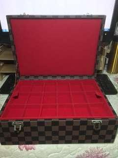 LV design amulet and jewellery storage box