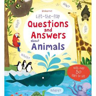 Usborne: Lift-the-flap questions and answers about animals