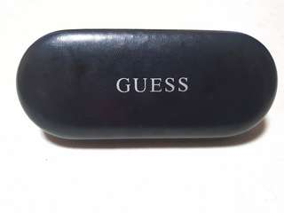 Authentic Guess Leather Hard Case for Eyeglass and sunnies