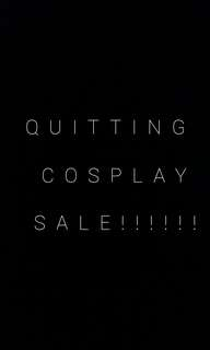 Quitting cosplay sale!!!!