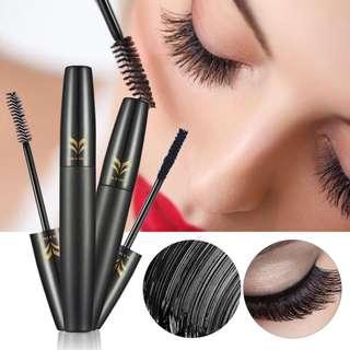🦋2pcs/lot Mascara Black 3D Mascara + Natural Fiber Eye Lash🦋