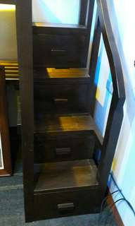 single bed with drawers stairs