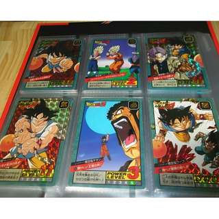 Dragonball power level part 16 prism cards set