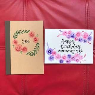 Gift Bundles: Customised Muji Notebook + Card 🌟