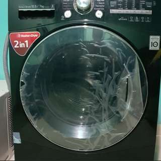 Front load washing machine and dryer