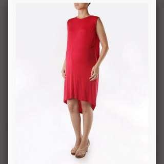 REPRICED: Elin Valia Maternity Dress in Red
