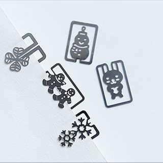 Mini Metal Bookmark Clips Cute Cartoon Animal Plated Sliver Bookmarks