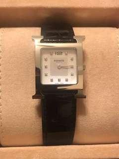 Hermès MM H Watch with diamond