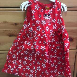 Mickey Mouse Minnie Kids Dress