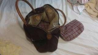 Sisley牌子猄皮旅行袋9成新