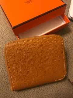 Hermès brand new short silk in (Toffee)