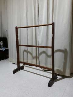 vintage wooden clothes stand