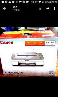 全新canon printer PIXMA MG2470 打印機