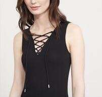Black Lace-up Tank (XS)