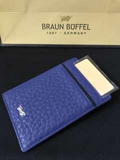 Braun Buffel Card Holder with Money clip