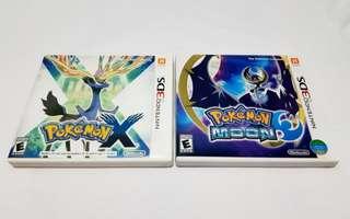 Pokemon X and Pokemon Moon