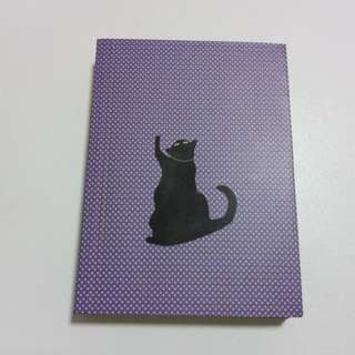 Cat notebook with brown paper pages
