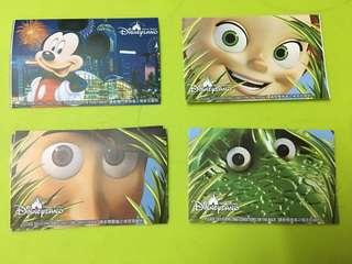迪士尼 入場門票 珍藏