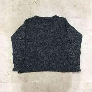Grainy Grey Knit Pullover