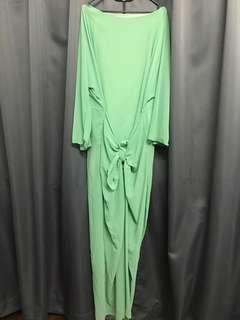Apple Green Jubah Dress