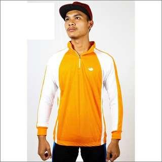 Baju Sepeda Lengan Panjang Orange
