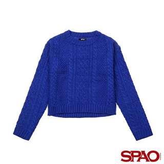 全新 SPAO 藍色針織冷衫 毛衣