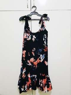 Printed Summer Dress (Black)
