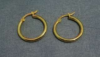 18k gold loop earing for women