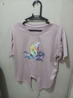 Unicorn Light Pink Crop Top - FREE SHIPPING!