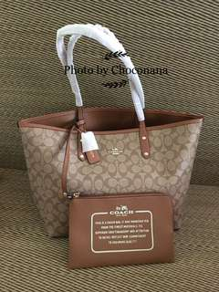 Ready stock: Coach reversible City tote