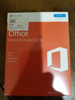 Microsoft office home and student 2016 application