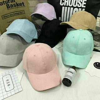korean pastel suede cap