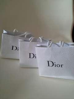 3個Parfums Christian Dior Shopping Bag 名牌手挽購物紙袋