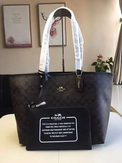Ready stock: Coach City Reversible Tote