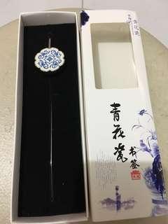 高檔青花瓷書籤porcelain bookmark