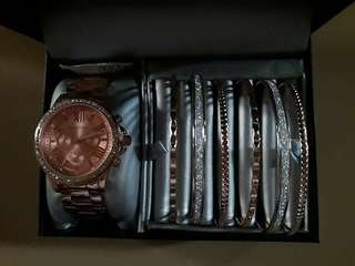 Rampage Watch and Bangles Set